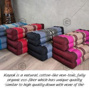 Thai 3-Fold Zafu Meditation Cushion Fold Out Cushion Yoga Mat 100% Kapok AU
