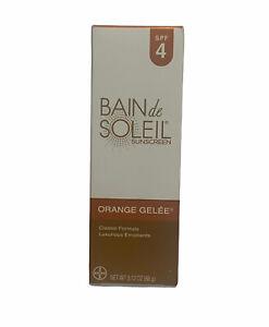Bain De Soleil 77093 Orange Gelee SPF 4 Sunscreen 3.12 oz Never Opened. Exp 5/20