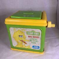 Vintage Child Guidance Sesame Street - Big Bird Jack-In-The-Box (1983 CBS Toys)