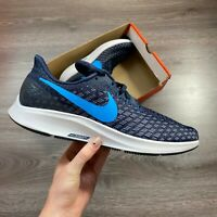 NIKE AIR ZOOM PEGASUS 35 BLACK/BLUE RUNNING TRAINERS SHOES SIZE UK8 US9 EUR42