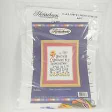 HERRSCHNERS Counted Cross-Stitch Kit Sister, You Are My Sunshine w/ Flowers New