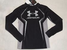 NWT BOYS UNDER ARMOUR LONG SLEEVE FITTED SHIRT~TOP~SMALL~S~black