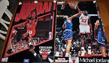 CHICAGO BULLS SET VINTAGE RARE NEW POSTERS MICHAEL JORDAN LOOK AWAY & INFINITY