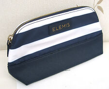 Elemis Navy & White Wipe Clean (outer) Lined Make Up Bag with zip .