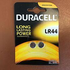 2 x DURACELL LR44 1.5V ALKALINE CELL BATTERY A76 AG13 SR44 GPA76 Longest Expiry