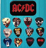 AC/DC Guitar Pick Tin Includes a Set of 12 Guitar Picks