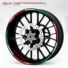 Ducati Multistrada 1200 Tricolore wheel decal stickers rim stripes Laminated