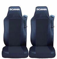 2 x Sitzbezüge Schonbezüge Bezüge Schwarz / Schwarz LKW SCANIA G P R