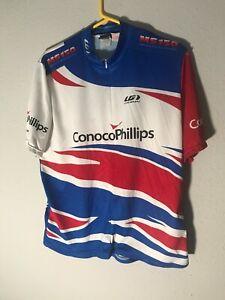 LOUIS GARNEAU: 1/2 ZIP Cycling Shirt/Jersey: MEN'S X-LARGE( MEASUREMENTS BELOW)