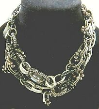 STATEMENT SILVER CHAIN NECKLACE