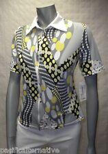 T-shirt blanc gris jaune Taille 36 pour FEMME haut top zip sport BAISERS SALES