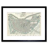 Map Illustrated Antique Sduk Amsterdam Framed Wall Art Print