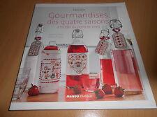 livre GOURMANDISES DES 4 SAISONS A BRODER AU POINT DE CROIX - neuf