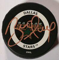 Brett Hull Dallas Stars Signed Autographed Game Puck NHL Hockey Auto