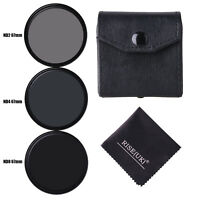 3pcs/lot 67mm Neutral Density ND2/ND4/ND8 lens Filter Kit set ND+2+4+8 with case