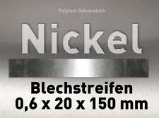 Nickel Blechstreifen Nickelblech 0,6 x 20 x 150 mm rein Ni 99,6% Anode Elektrode