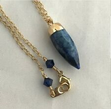 Lapis Lazuli pendant 18 inch gold filled chain handmade