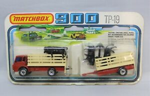 Matchbox Lesney 900 TP-19 TWOPACK with No71 DODGE CATTLE TRUCK SET in RED/CREAM