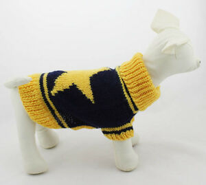 (DACHSHUND/LONG BREED) D-S, D-M, D-L YELLOW STAR HAND KNITTED SWEATER