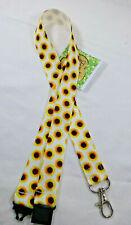 Sunflower ribbon lanyard safety clip ID badge holder gift teacher gift