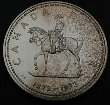 CANADA 1 Dollar 1973 - Silver - Royal Canadian Mounted Police - aUNC #455