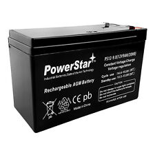 PowerStar 12V 8Ah Alarm Battery Replaces 7Ah Yuasa Enersys NP7-12  UPGRADE 9AH