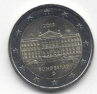 Alemania 2 Euro 2019 70 Aniversario del Bundesrat  Emision Nº 21 Una sola