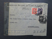 Portugal 1945 Censor Airmail Cover to USA - Z8474