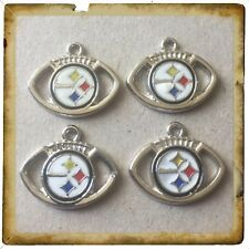 🇺🇸 NFL Lot Of 4 Pittsburgh Steelers Enamel Charms / Brand New