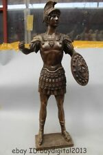 33 Western Art Deco Bronze Statue Famous Roman warrior shield Statue Sculpture