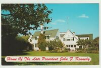 Unused Postcard Home of Late President John F Kennedy Cape Cod Massachusetts MA