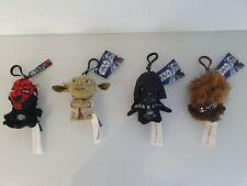 4 Star Wars Keyring Plush Soft Toy Yoda, Darth Vader,Darth Maul,Chew Bacca 11cm