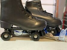 Women's PU Leather Black High-Top Roller Skates Wheel US size 13, 45    JJ