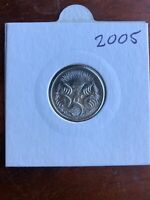 2005 5 Cent Australian Decimal Coin UNCIRCULATED. Mint Coin. Free Post
