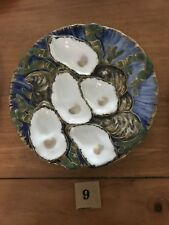 Five Antique Turkey Oyster Plate Collection