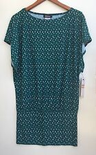 DKNY Women's Swimming Suit Cover-up Dress Green With Pattern Size S $136