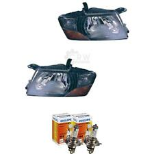 Headlight Set Mitsubishi Pajero V60 Year 00-06 Black H4 Incl. Lamps