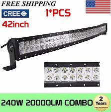 CREE Curved 42Inch 240W Led Work Light Bar OffRoad Ford Truck Driving Lamp 40/44