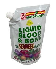 Liquid Blood & Bone Plus Seaweed Organic Fertiliser 1l David Grays Garden