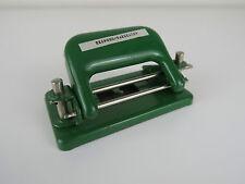 Vintage Czechoslovakia 2 Hole Punch Small Green Metal CSN 9065