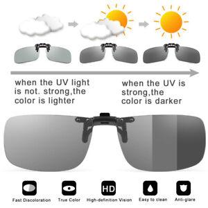 Photochromic Polarized Fishing Clip On Flip Polarised Eyewear UV400 Sunglasses