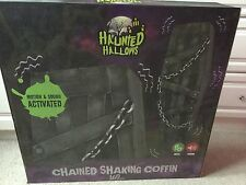 Halloween animated chained shaking coffin - boxed Brand New
