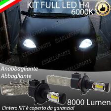 KIT FULL LED FIAT SEICENTO 600 LAMPADE LED H4 6000K BIANCO GHIACCIO NO ERROR
