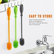 """Silicone Bottle Cleaning Brush with Long Handle,12.5"""" Water Bottle FREE SHIPPING"""