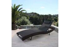 Sonnenliege Lounge Gartenliege Liege Polyrattan Design braun meliert