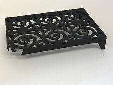 Ladrillo De Hierro Fundido Victoriano Rejilla De Parrilla salvamanteles soporte de ventilación de aire vintage antiguo B