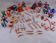 "Pirates vs Knights 2"" Action Figures Cannon Catapult & Many Weapons Accessories"