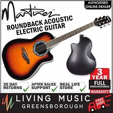 NEW Martinez Acoustic-Electric Roundback Cutaway Guitar (Tobacco Sunburst)