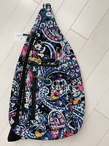 Disney Vera Bradley Mickey's Whimsical Paisley Iconic Sling Backpack NWT. (A)
