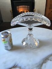 "EAPG ""REVERSE TORPEDO"" Banana Boat Compote Glass c.1890 Vintage Victorian Stand"